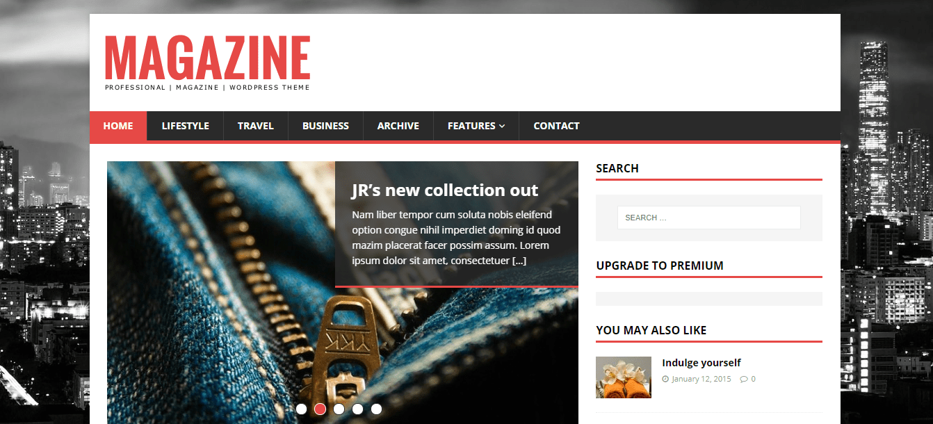 MH Magazine Lite wordpress theme