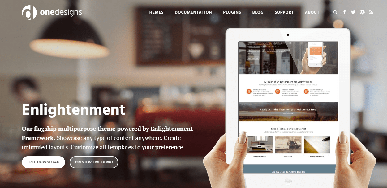 enlightement theme wordpress