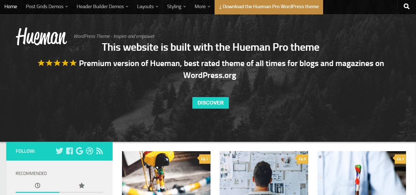 hueman theme wordpress