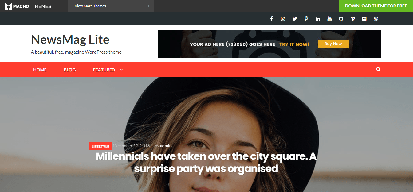 newsmaglite wordpress theme