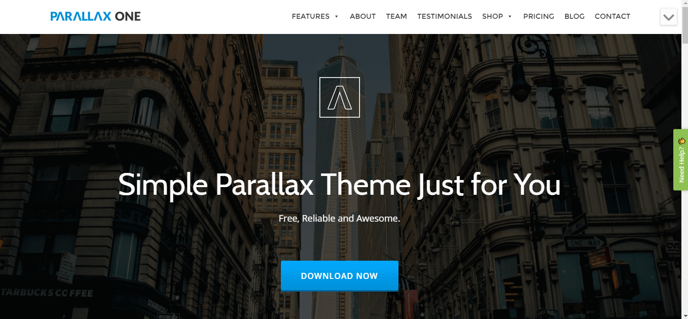 parallax one theme wordpress