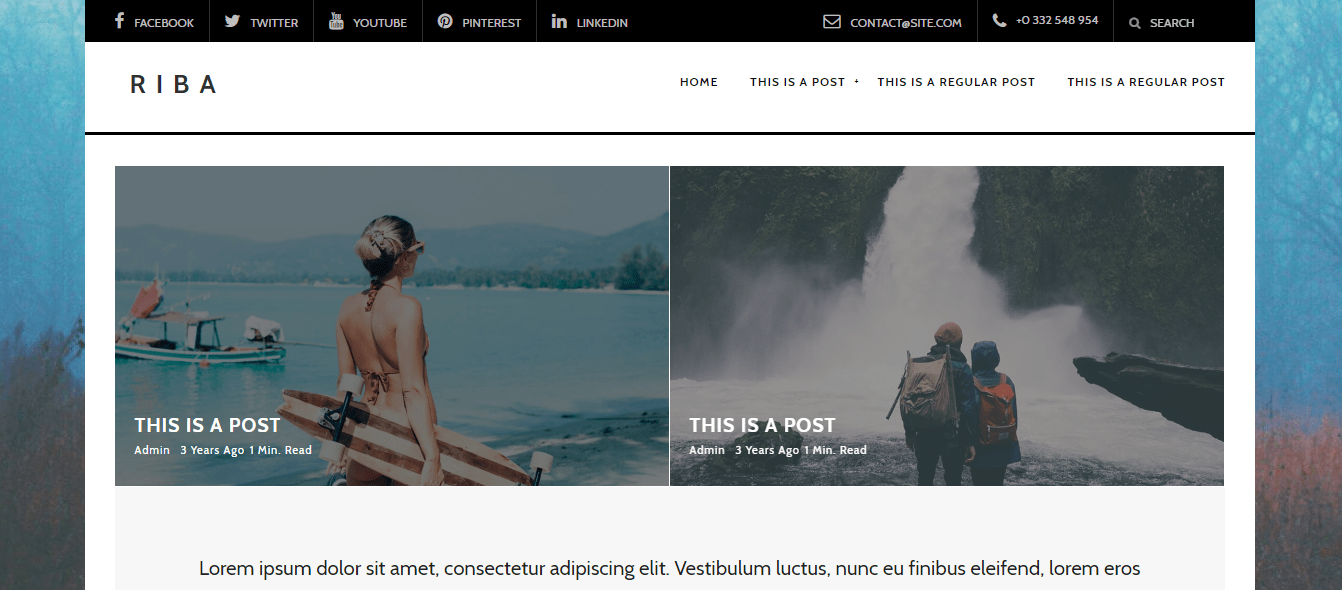 riba wordpress theme