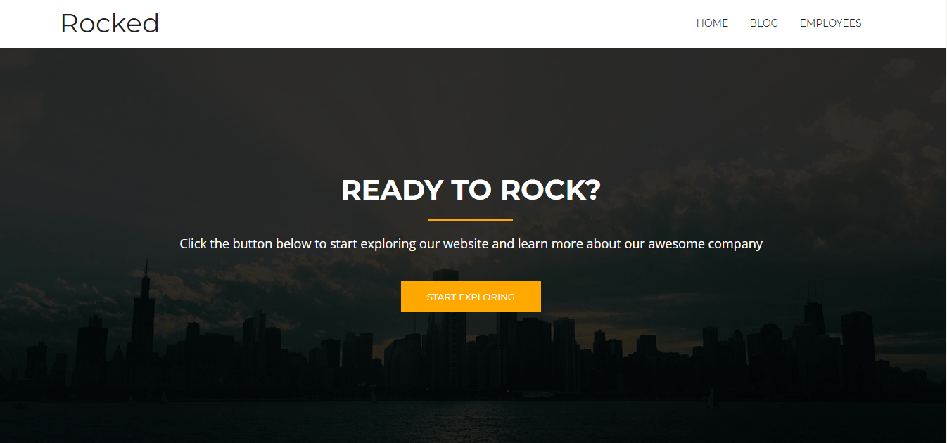 rocked wordpress theme