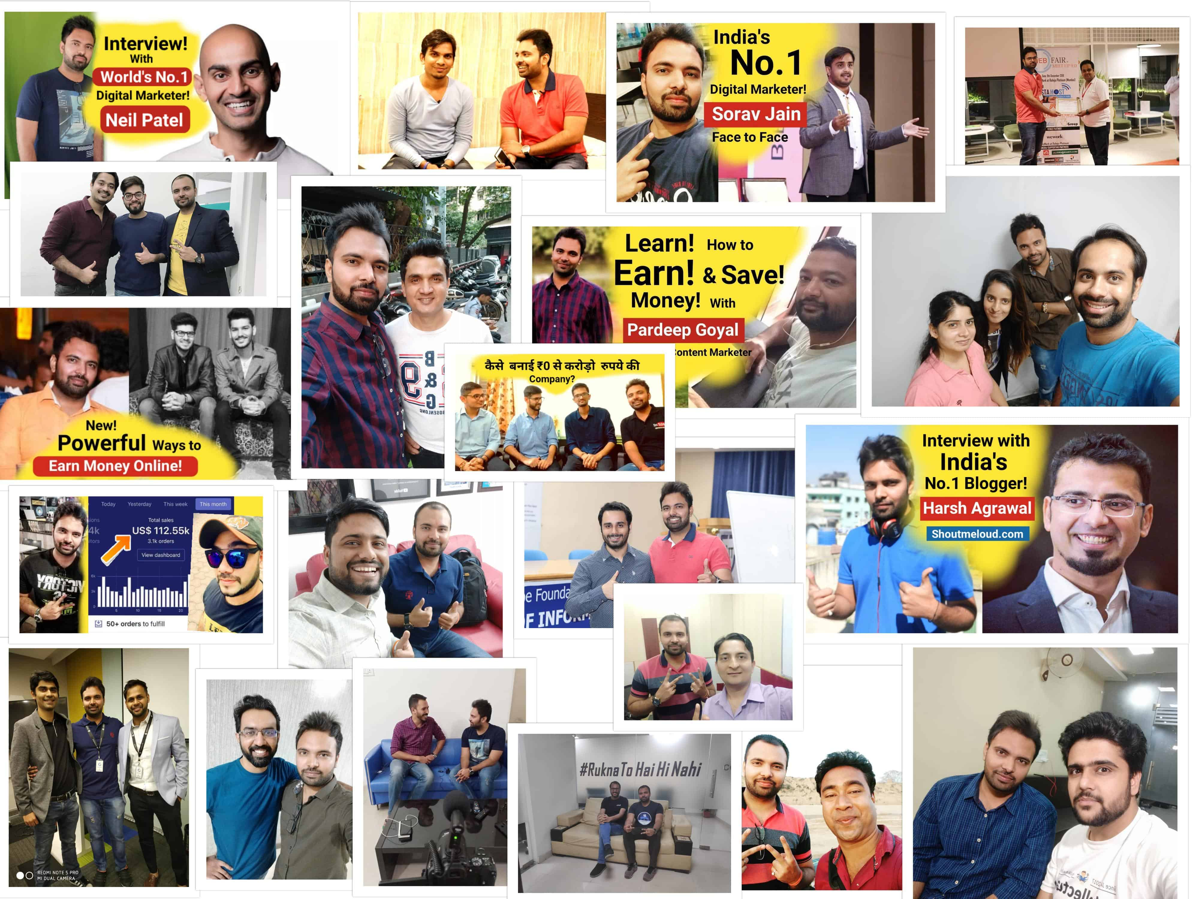 Amit mishra blogger youtuber collabration networking collage neil patel