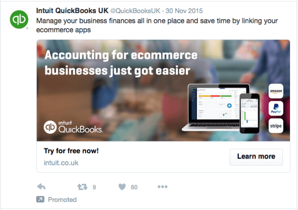 Twitter advertising examples