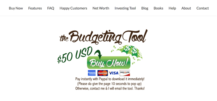 the budgeting tool