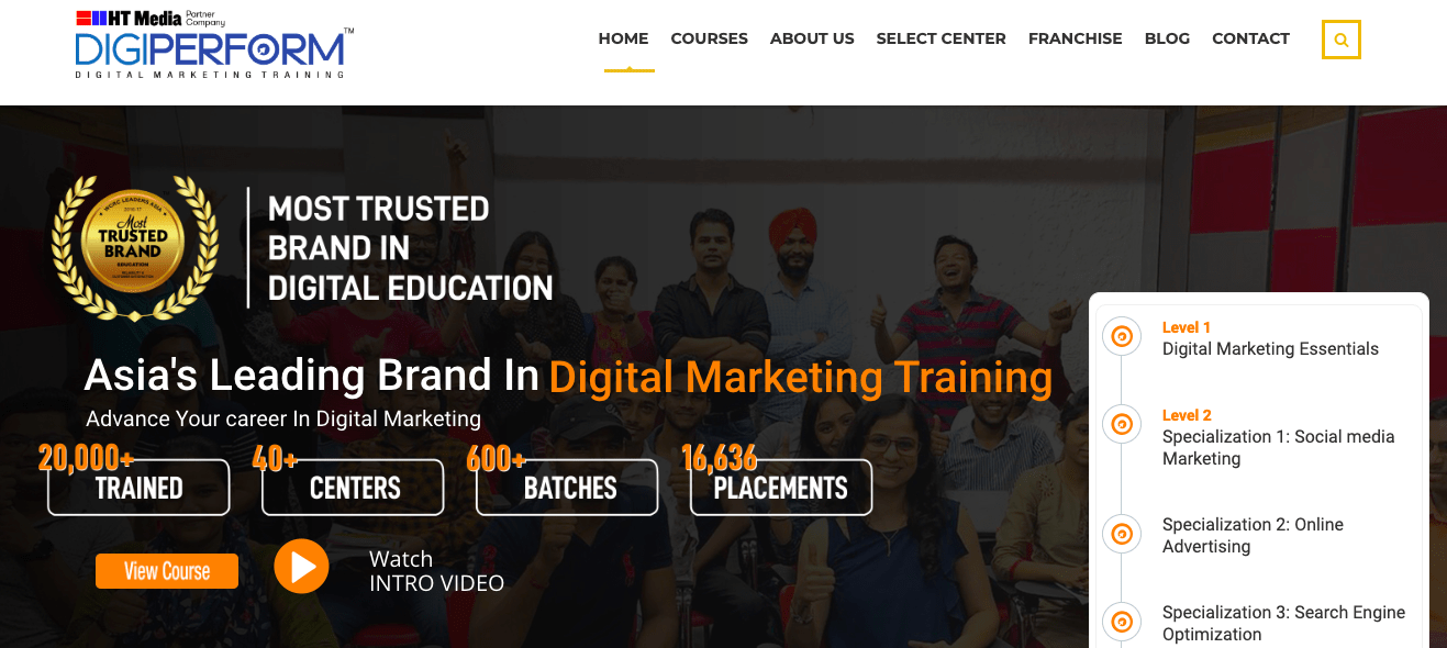digiperform digital marketing institute in bangalore