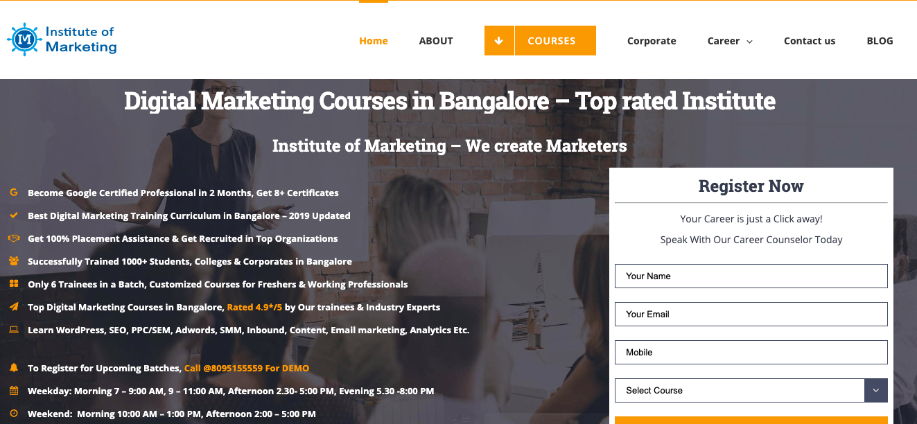 instituteofmarketing bangalore