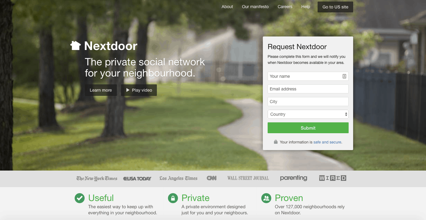 Nextdoor Social media app