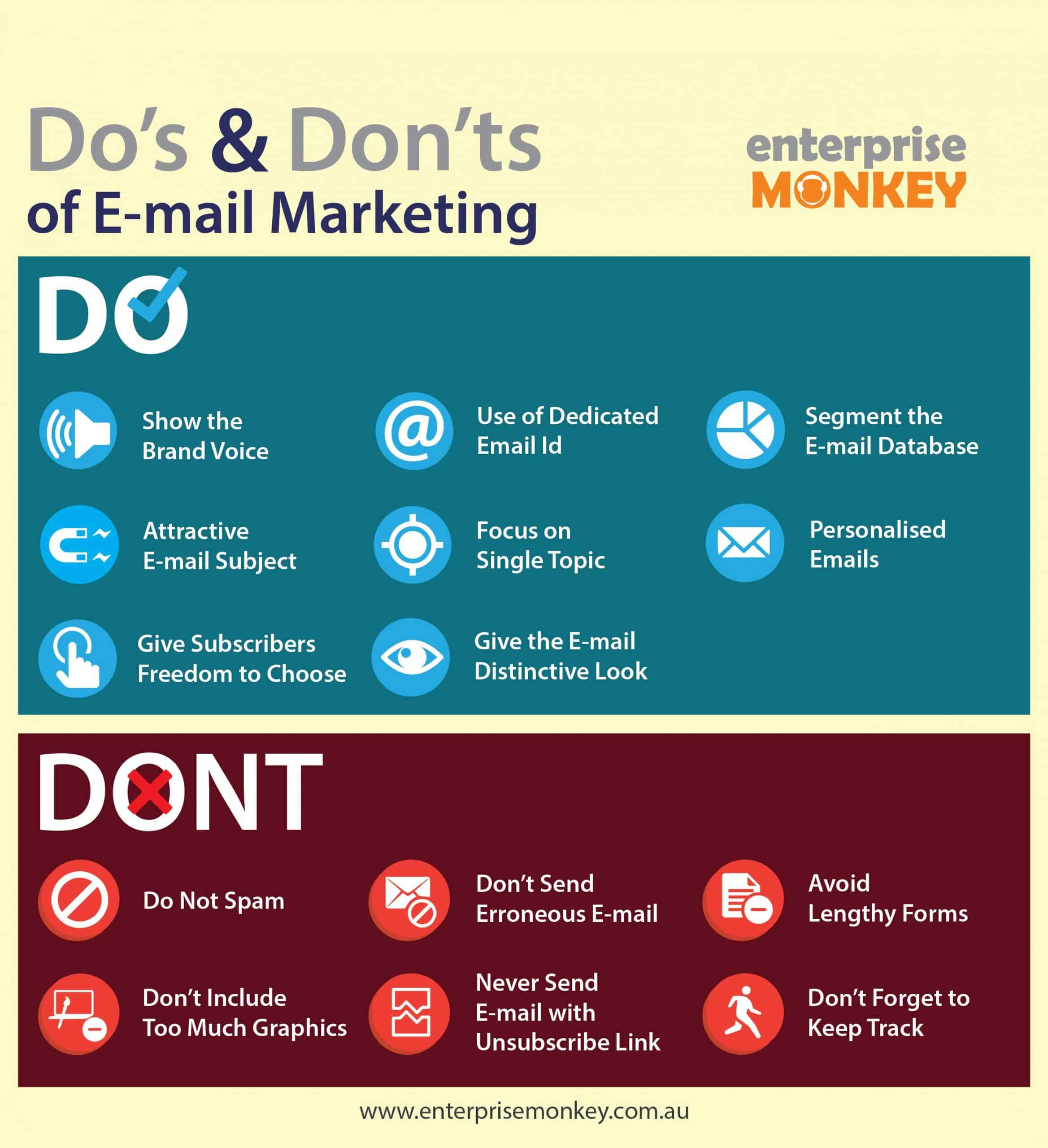 dos and donts of email marketing