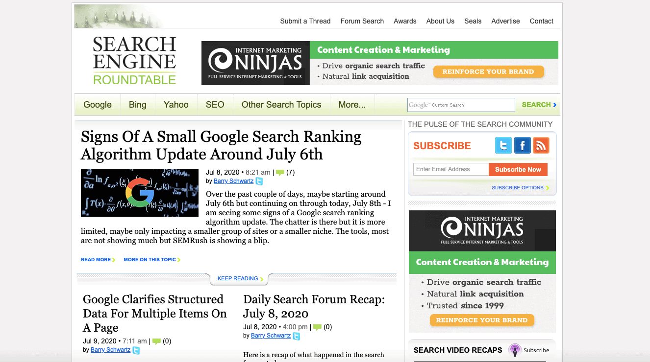 Search Engine Roundtable Blog