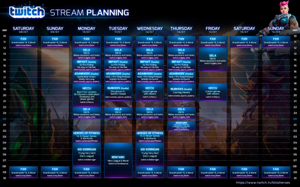 streaming schedule twitch